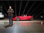 Musk ended the evening by showing a brand-new roadster, which he said