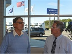Prior to Young (right) purchasing a Volvo dealership in Charlotte and