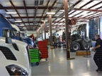 The work shop facility has 20 bays for service and repairs. Since
