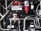 The fuel tank plumbing has been resized to facilitate faster and