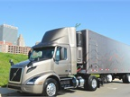 Volvo VNR 300 with a 28-foot delivery trailer. Dry weight of the