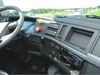 There is an optional  infotainment  system available. It fits into the