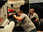 Rising Star Justin Mitchell tackles the truck inspection challenge,