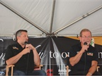 NASCAR ledgend Tony Stewart, right, hams it up with Rust Rush at the