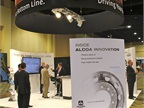 Alcoa Wheels booth.