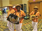 Lively sounds in the exhibit hall with the steel drum and more.