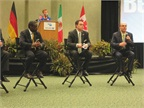 A panel of Bendix executives talk to reporters Wednesday morning.