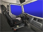 The Kenworth K270 and K370 cab offers comfortable seating for three.