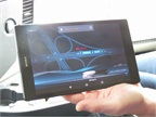 Visible on removable dash-mounted tablet are location of the lead