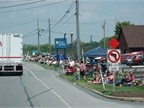 Approximately 6,000 spectators lined the 28-mile route and attended