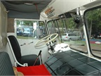 The low-back seat had a mechanical suspension. The cab is chock full