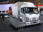Isuzu s medium duty  Forward  model with a temperature controlled van