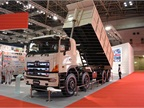 The Hino 700 Series mining  eight-wheeler  has a 12.9-liter engine