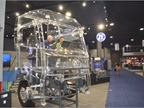 The cool transparent tractor at ZF s booth highlighted the full range