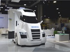 Wabco s future truck mockup showed hints of designs to come. Photo: