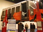 Walking into the expo hall attendees saw a shuttle bus equipped with