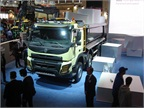Volvo FMX, a rough dumptruck, introduced at Bauma.