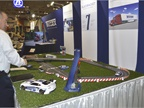 Exhibitors attracted attention with activities such as golf and