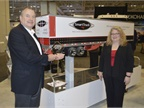 Stephen S. Ingham Jr., CEO of SmartTruck, accepts the Top 20 Award
