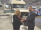 Volvo s I-See earned the Top 20 award. HDT Editor in Chief presents