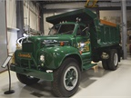This Mack B6 is a 1955 model. It s gas-powered, with a 6 cylinder