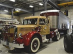 The 1950 LFT is powered by a Mack Lanova diesel engine cranking out