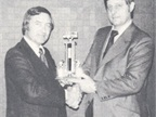 Ed Bobit presents the annual Bobit Award to Heydon Hubler of Hubler