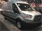 Ford s new Transit full-size van was on display.