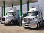 Frito-Lay CNG trucks fill up.