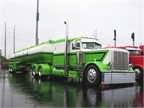 Bill Rethwisch's Best of Show winner, waiting in the rain on the first day at SuperRigs 2014. Photo: Deborah Lockridge