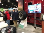 A potential customer checks out the Halo automatic tire inflation