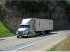 Trucks are governed at 61 mph, because better fuel economy comes with