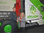 Thomas Healy, founder and CEO of Hyliion, accepts the HDT Top 20