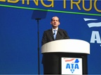 U.S. Labor Secretary R. Alexander Acosta speaking during the Monday