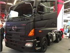 This Class 8 tandem axle tractor from Hino is available mostly in