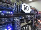 Trux Accessories installed a lighted display to draw attention to its