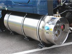 Natural gas tank on a Kenworth T2000 equipped with NGV Systems