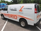 Hybrid Electric Chevrolet Express 2500 cargo van with Hybrid