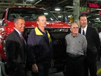 From left, Joe Hinrichs, Ford president, The Americas; Tim Rowe, UAW