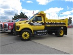 The Tonka Truck-themed F-750 dump is a one-of-a-kind vehicle with