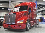 Peterbilt showed off its Epiq fuel economy package for the Model 579,