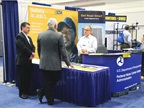 The Federal Motor Carrier Safety Administration had a booth at the
