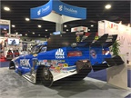 The John Force funny car on display at the Peak Coolants booth Photo: