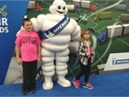 Kids enjoyed having their pictures taken with the jolly Michelin Man.