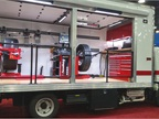Hunter wheel-mounting and alignment equipment travels to Florida