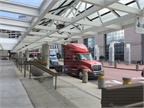 Trucks on display outside the Georgia World Congress Center. Photo: