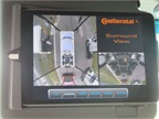 Four separate cameras give drivers a birds-eye view of the Walmart