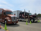 Kenworth s latest aerodynsmic tractor contrasted with the classic
