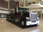 One of several trucks on display in the South Wing lobby.