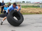 Trucker games featured events such as the tire flip, the tire roll, a